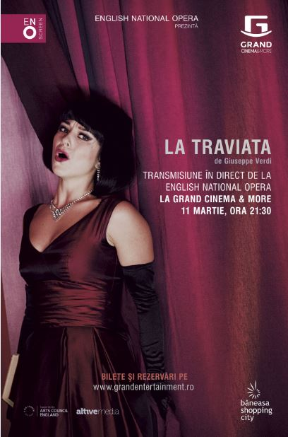 Opera La Traviata in engleza, in direct la Grand Cinema Digiplex Baneasa