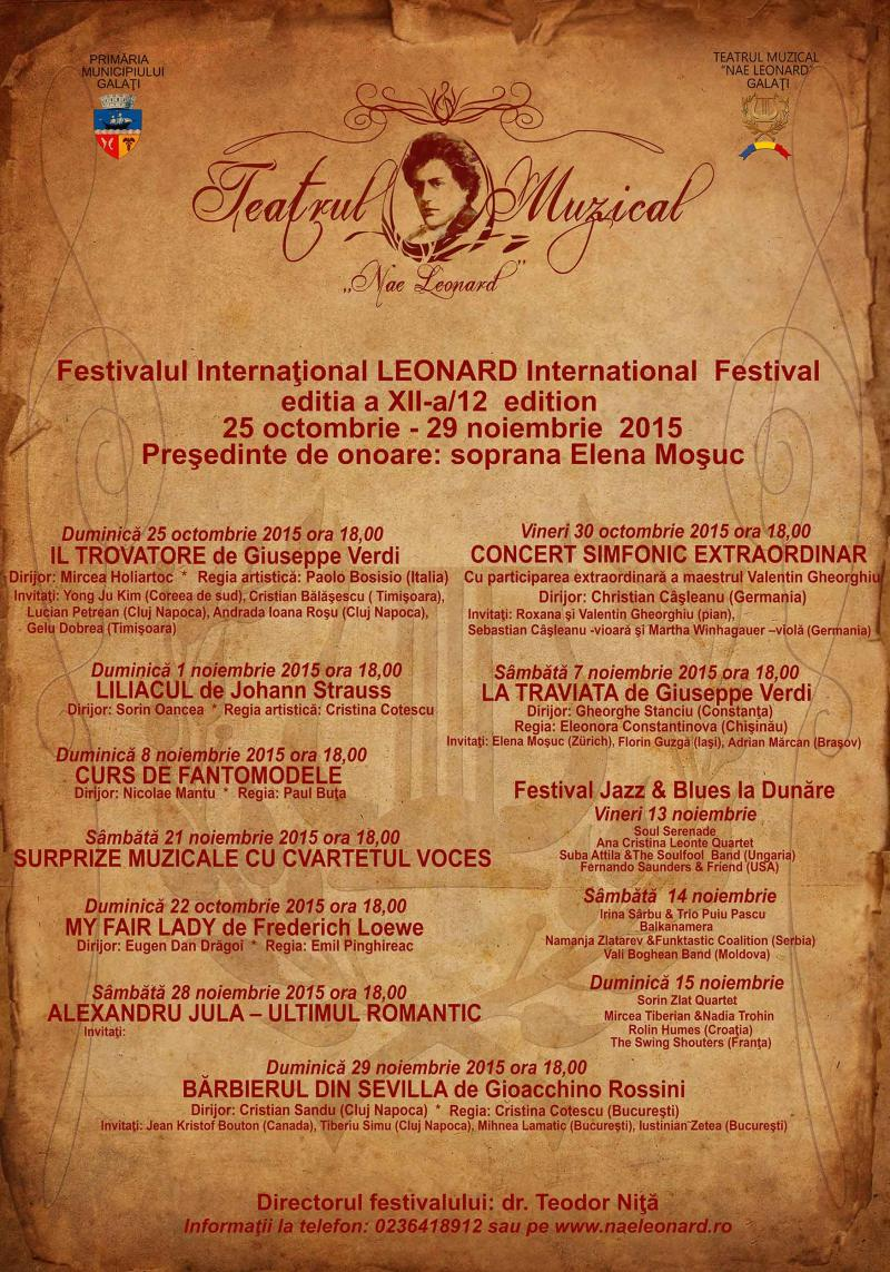 "Festivalul International ""Leonard"", Galati"