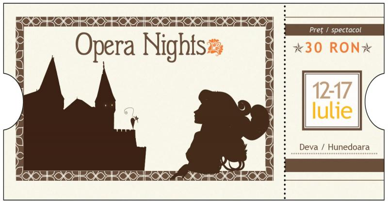 Program Opera Nights 2016, 12-17 iulie