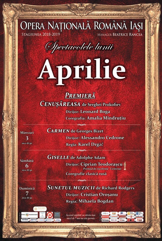 Program partial aprilie 2019