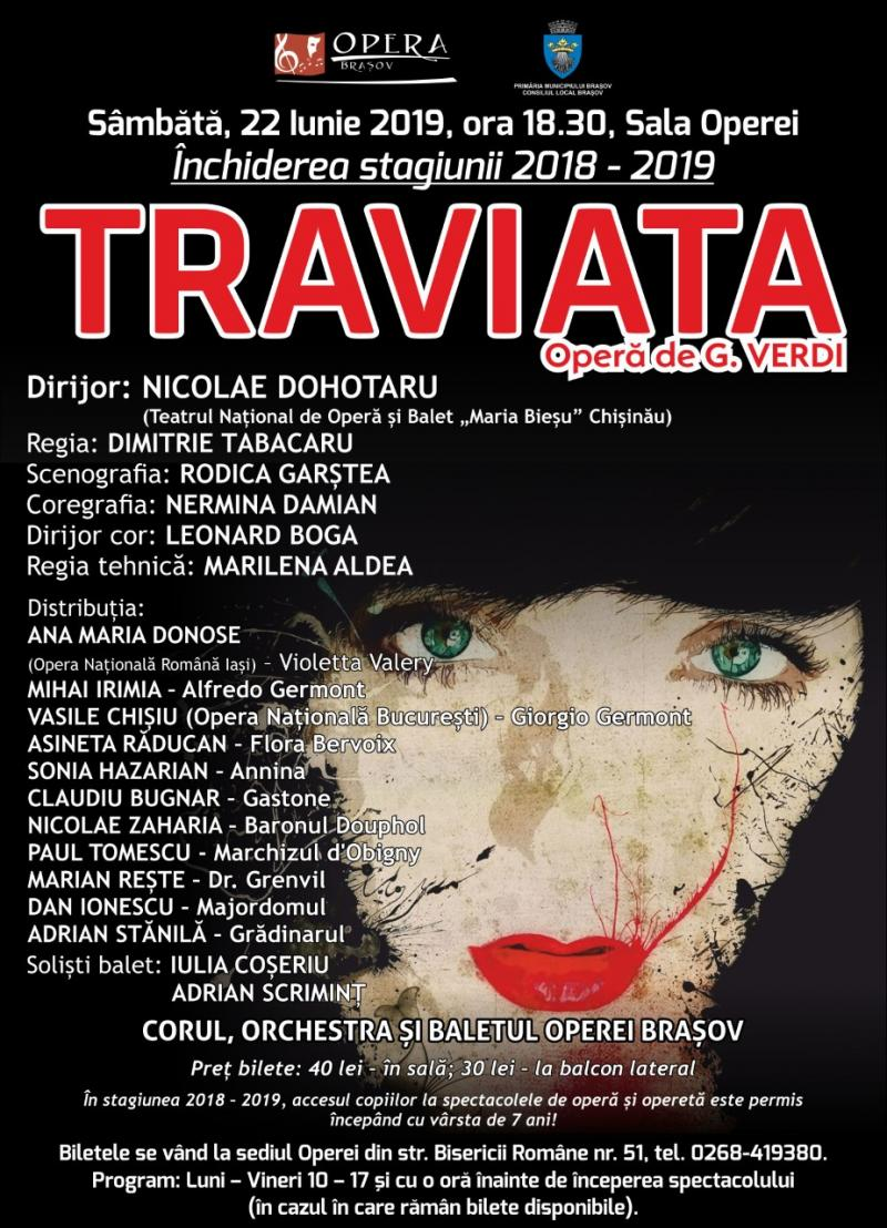 �Traviata�, final de stagiune la Opera Brașov!