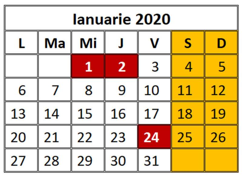 Program ianuarie 2020